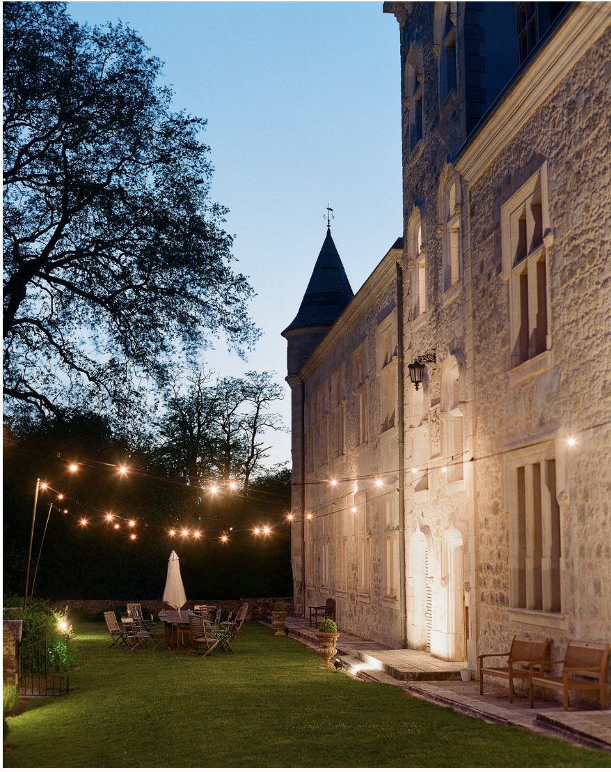 the impeccable pear fairy tale wedding evening