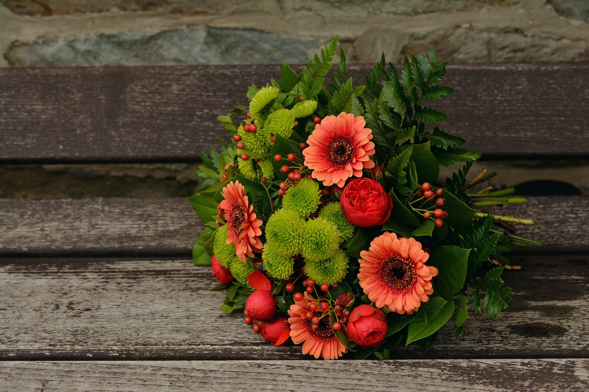 autumn french wedding bouquet