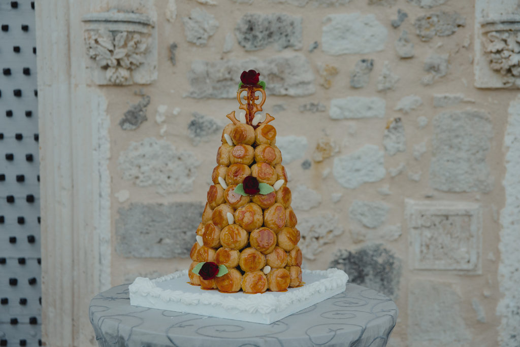 The Impeccable Pear - croquembouche wedding cake