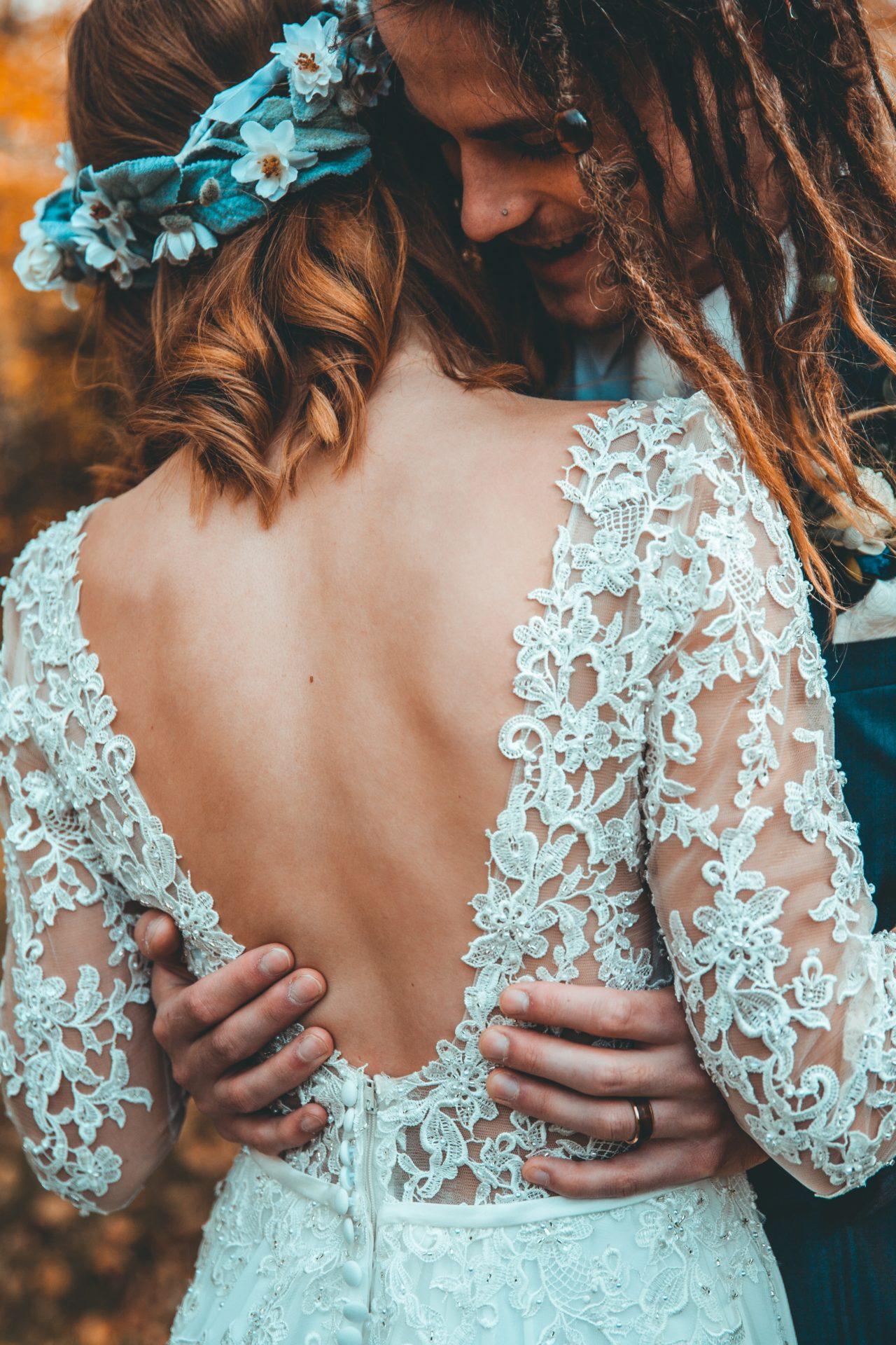 folk style wedding - lace